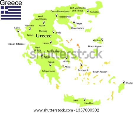 Greece Map Free Vector Art - (32 Free Downloads)