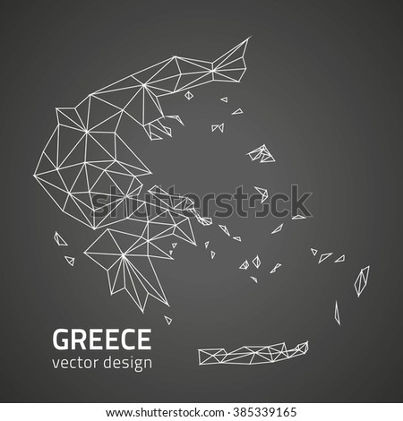 Greece polygonal map