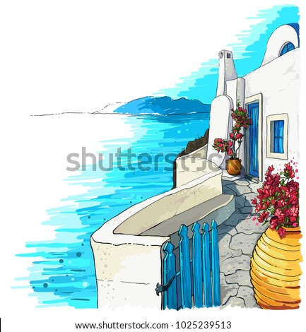 greece summer island landscape