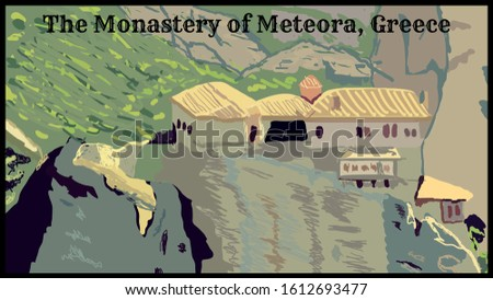greece  the monastery of