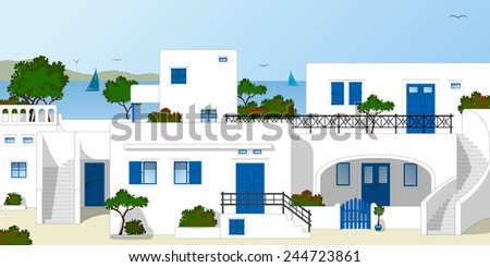 greece  traditional houses