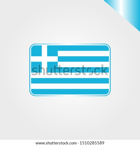 Greece world national country flag emblem vector design in flat trendy style with gradient for religion, travel, holidays sign on gray background