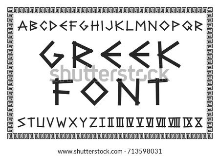 greek lettering font vector pack of ancient designs 123freevectors 27507