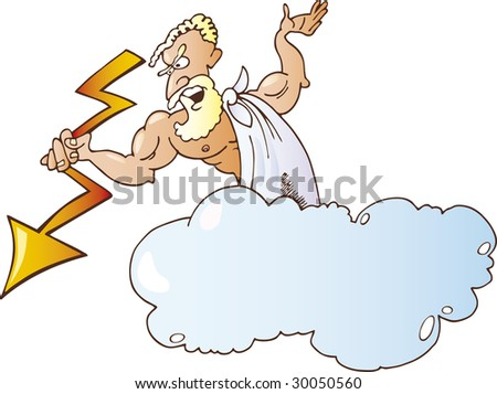 greek gods coloring pages zeus. Zeus Greek God. stock vector