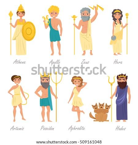 greek gods artemis  poseidon