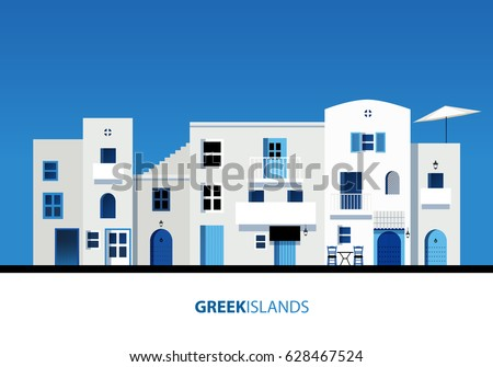 greek islands view of typical