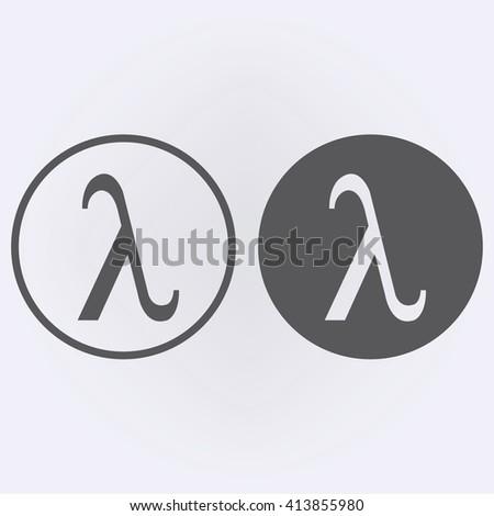 Greek Letter Lambda Symbol In Circle Vector Illustration Free