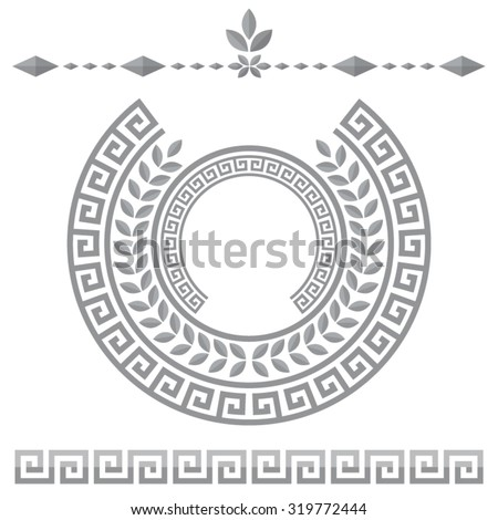 Greek meander decorative elements