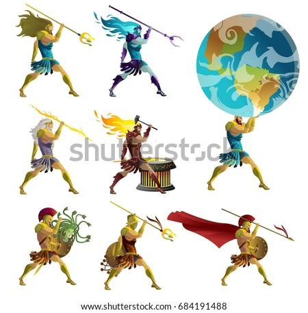 greek mythology gods  titan and