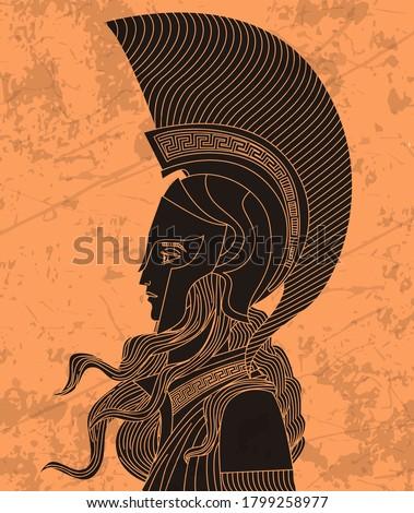 greek orange and black amphora