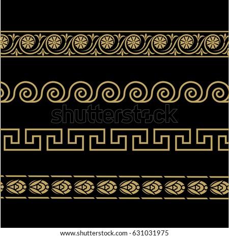 greek ornament patterns in