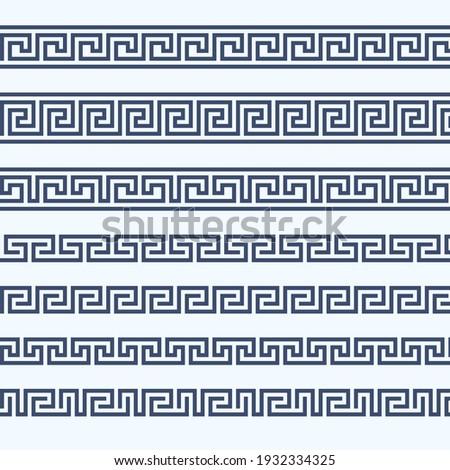 Greek pattern border - grecian ornament frame, vector Photo stock ©