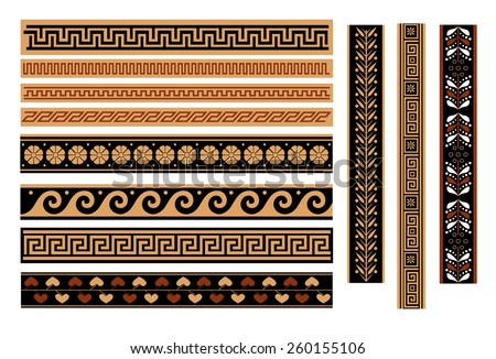 Greek pattern, texture, pattern on a white background. Isolated objects. vector