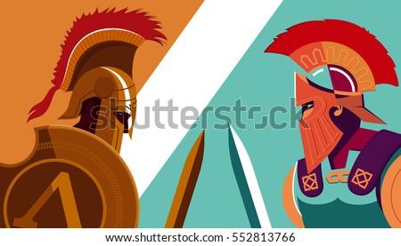 greek spartan warrior versus