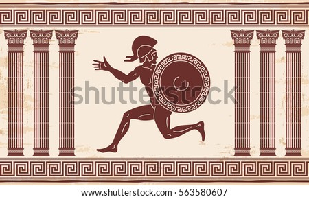 greek style drawing naked