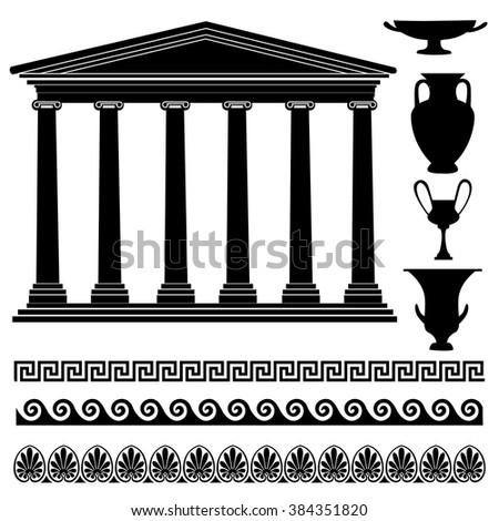 greek symbol silhouette