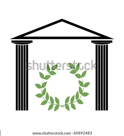 Greek Temple with Doric columns