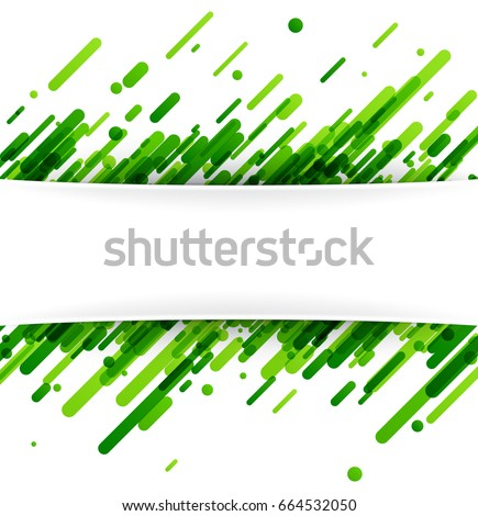 Green abstract background on white. Vector paper illustration.
