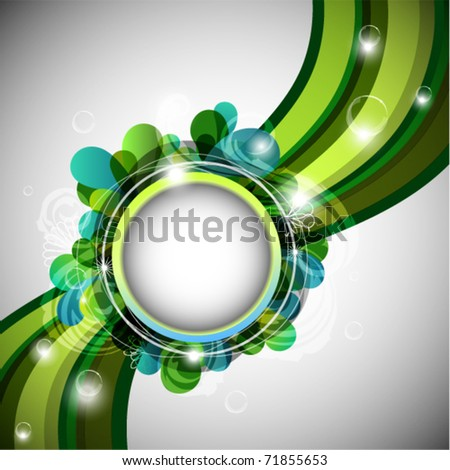Green abstract background with copy space - eps10