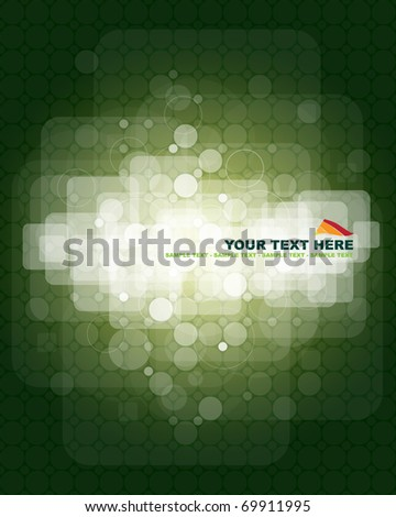 Green abstract background with place for your text