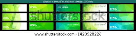 green abstract banner triangle background header nature polygons lime templates set of abstract vector green banner with triangle background template for eco design green abstract banner triangle back