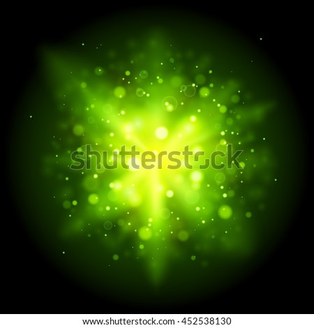 green abstract explosion bokeh