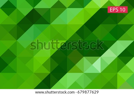 Green abstract geometric background, vector from polygons, triangle background, vector illustration, vector pattern, triangular template