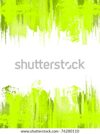 Green abstract grunge background. Vector template