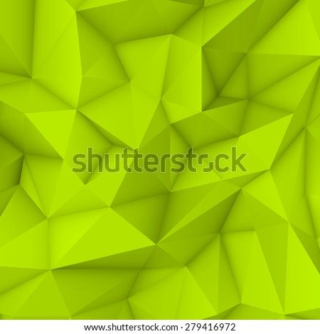 green abstract low poly