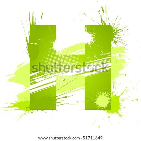 Letter H Vector on white background