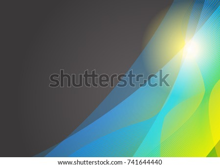 Business card template with sun download free vector art stock green abstract template for card or banner metal background with waves and reflections business flashek Gallery
