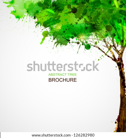 green  abstract tree forming by