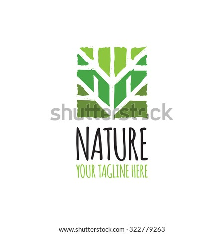 Green abstract tree Logo