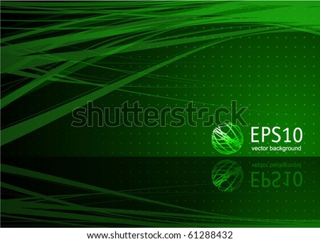 Green abstract. Vector.