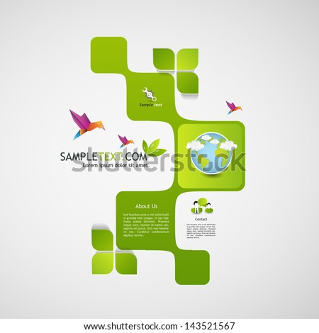 green abstract web design