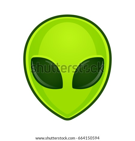 green alien face emoji
