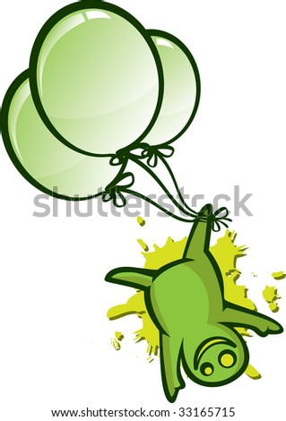 Green alien fly isolation