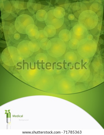 Green alternative medication concept - vector illustration