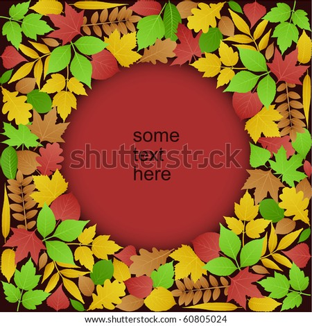 Green and Autumn Leaves Background (vector)