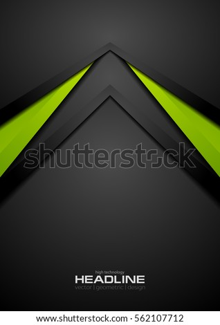 stock-vector-green-and-black-contrast-tech-arrows-background-vector-corporate-design