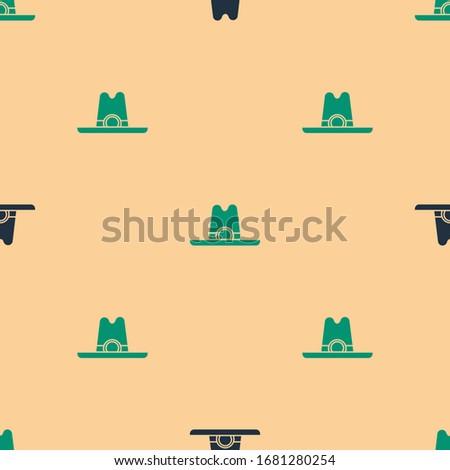 green and black western cowboy