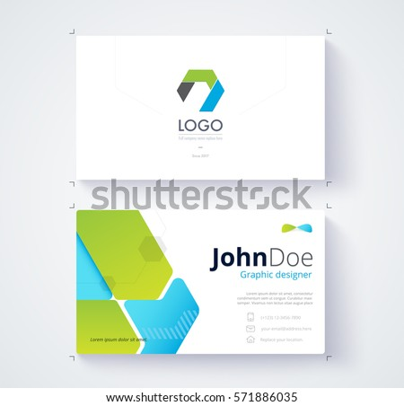 Black business card vector template download free vector art green and blue graphic business card template card design friedricerecipe Images