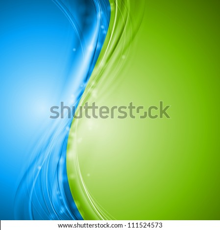 green and blue wavy design