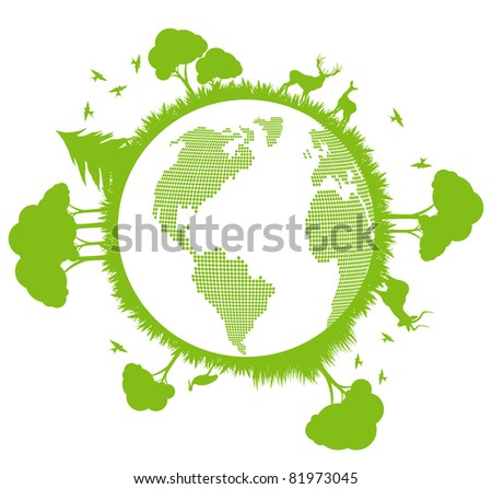 green and clean ecology earth