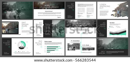 Green and grey elements for infographics on a white background. Presentation templates. Use in presentation, flyer and leaflet, corporate report, marketing, advertising, annual report, banner.