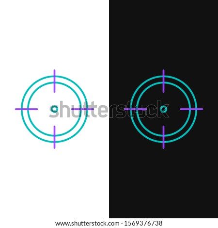green and purple line target