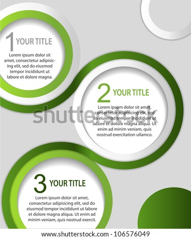 Green and white abstract banners, vector