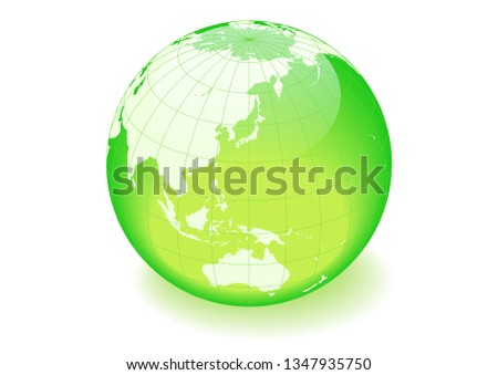 green and white spherical earth