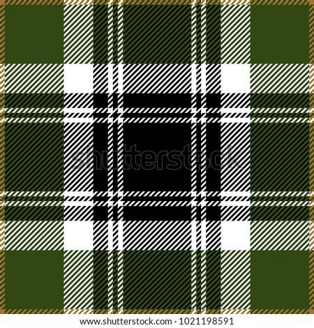 green and white tartan plaid