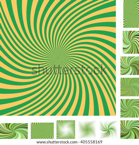 green and yellow vector spiral